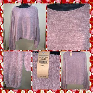 American Eagle SZ L Cropped Dusty Pink TOP NEW